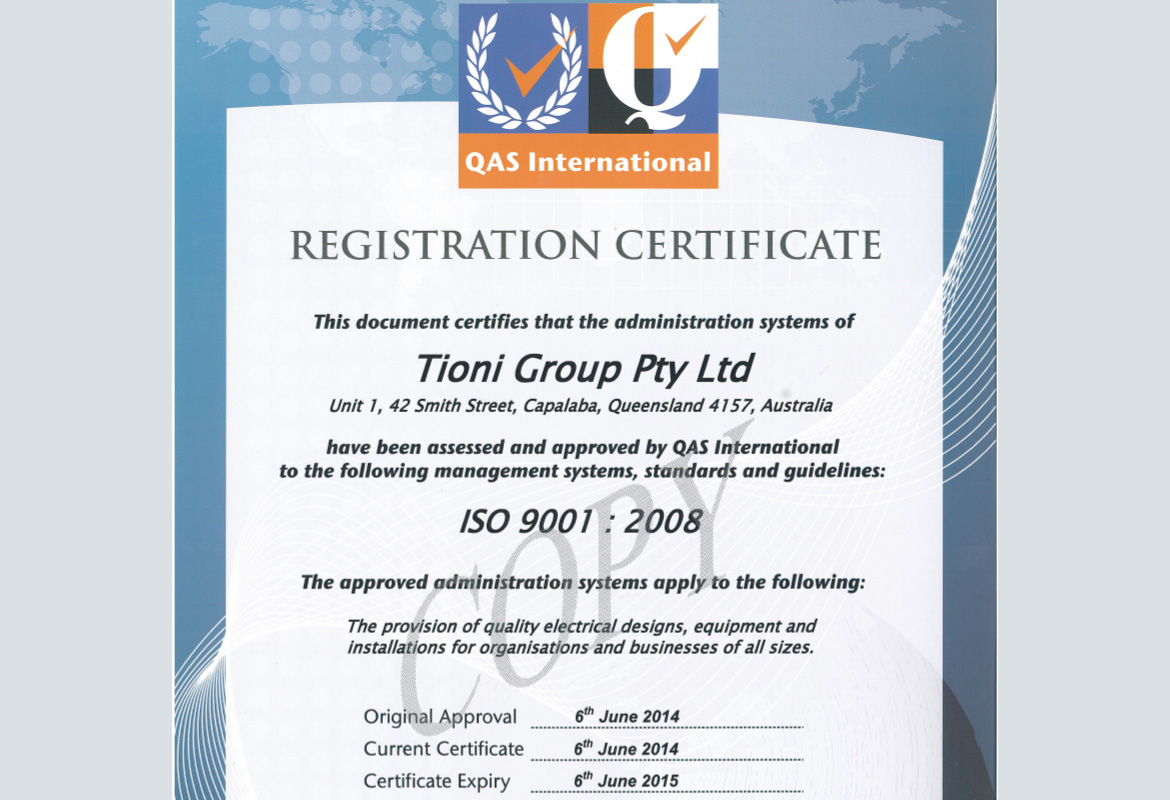 tioni iso 9001 certified